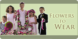 Flowers to Wear in your wedding for groomsmen, flower girl, ring bearer, attendands, servers, ushers, parents, grandparents